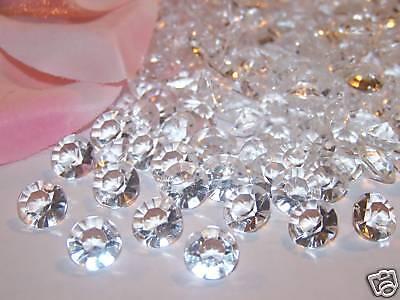 8mm 2CT Acrylic DIAMONDS Diamond Confetti Wedding Party Table Decorations 800pcs