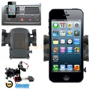 360 degree in car air vent holder cradle kit for apple iphone 8 7 6 5 4 8 plus ebay. Black Bedroom Furniture Sets. Home Design Ideas