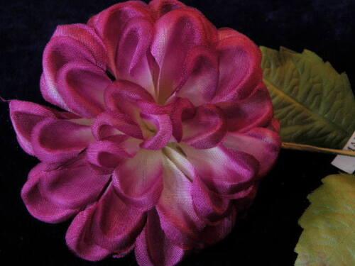 """Vintage Millinery Flower Plum 3/"""" Ruffle Burgundy Hat Bride Hair Japan Y210"""