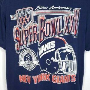 Super Bowl XXV T Shirt Vintage 90s 1991 New York Giants Champions ... b0e969c7e