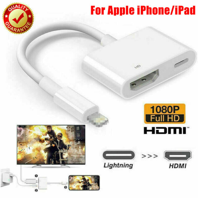 8 Pin Lightning to HDMI Port AV Adapter Digital Cable For iPhone X 8 7 6 iPad