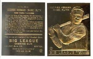 BABE-RUTH-1933-Goudey-23KT-Gold-Card-Sculptured-53-ROOKIE-New-York-Yankees