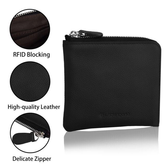 RFID Blocking MINI Wallet Purse Anti Theft Cards Holder Zipper Christmas Gift G5