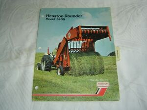 Details about HESSTON 5400 ROUNDER BALER PARTS LISTING CATALOG MANUAL BOOK