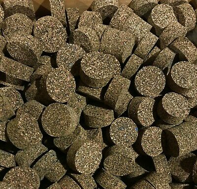 CORK RINGS 4 BLUE RUBBERIZED 1.25 X 1//2 INCH x 1//4 BORE
