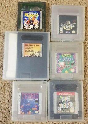Kirby S Pinball Land Casper Breakout Tetris Muppets Cleaning Kit Game Boy Lot Ebay