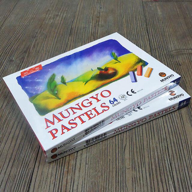 2 PACK x MUNGYO Soft Pastels 64 Colors Half Size Vivid brilliant For Artists