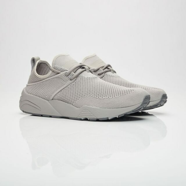 2004f0649 PUMA X Stampd Trinomic Woven 36274402 Steel Gray Knit Casual Shoes ...