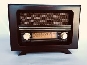Retro-Style-Table-Radio-Wooden-Case-Stereo-FM-Bluetooth-AUX-SD-Card-R