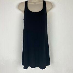 Eileen-Fisher-Womens-XS-100-Silk-Black-Tunic-Tank-Top