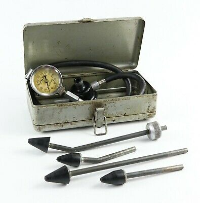 Complete Jas P. Marsh Allen 16229-1 Pressure Gage Set W/ Attachments & Box