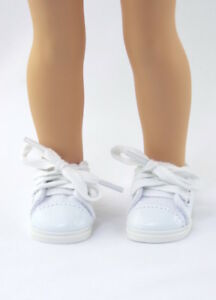 White-Sneakers-Fits-Wellie-Wishers-14-5-034-American-Girl-Clothes-Shoes