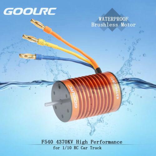 F540 4370KV Waterproof Brushless Motor/&45A ESC For 1//10 RC Car Boat USA E3T6
