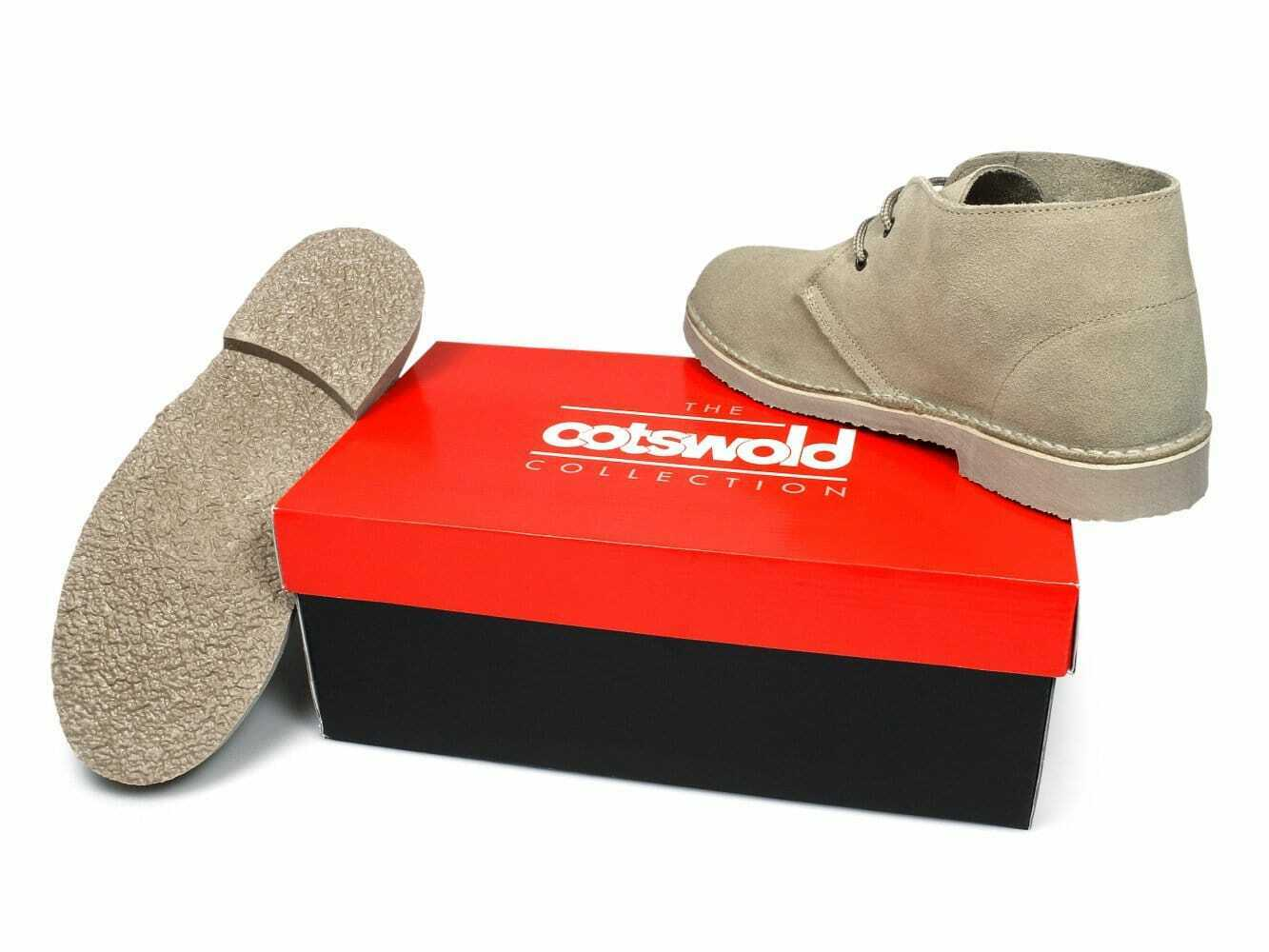 Cotswold SAHARA Mens Autumn Casual Smart Suede Lace Up Ankle Desert Boots Sand