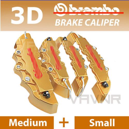 New 4pcs Gold 3D Disc Brake Caliper Covers Kit For Lexus # 16-18 inch wheels
