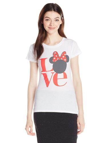 White Small Disney Junior/'s Minnie Love Valentine Tee Shirt
