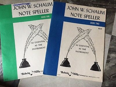 Vintage Piano Books John W Schaum Note Speller Book One Book Two