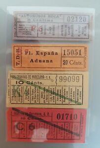 4-BILLETES-TRANV-A-BARCELONA-ANOS-1910-039-CAPICUA-10-Ctmos