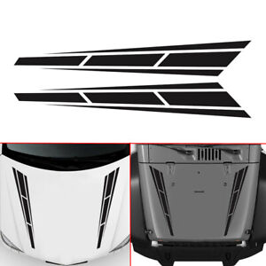 Racing-Stripes-Vinyl-Graphics-Decal-Hood-Sticker-Car-Front-Stickers-4-5-034-x31-5-034-w