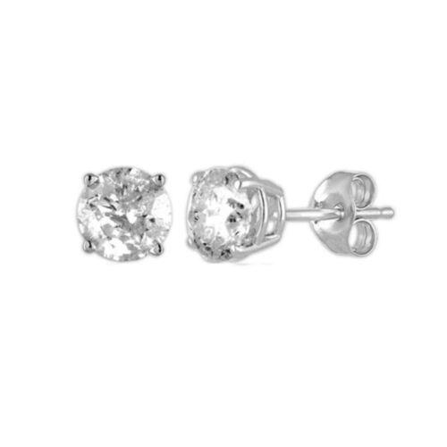 14Kt or Blanc 0.62 Ct véritable diamant naturel clous d/'oreilles ronds