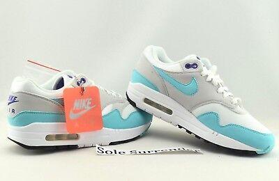 Nike Air Max 1 Anniversary CHOOSE SIZE 908375 105 Aqua Grey Black OG Teal Blue | eBay