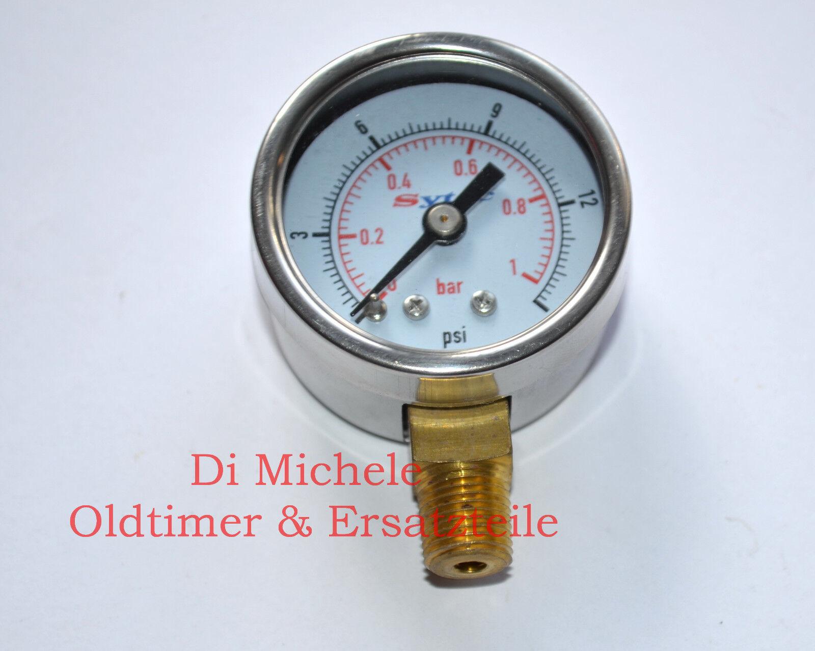 Carburettor Fuel Pressure Gauge Gauge, bar   Psi, Gasoline Display