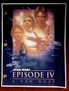 Star Wars Episode Iv A New Hope Lucasfilm Rare Screenplay Script Ebay