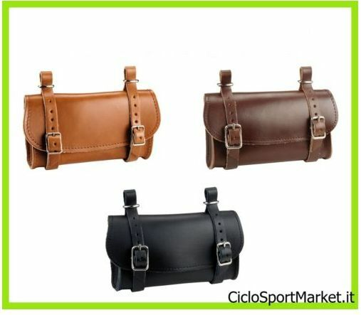 Borsetta  sottosella PELLE CUOIO ideale bicicletta vintage black - Miele - brown  up to 65% off