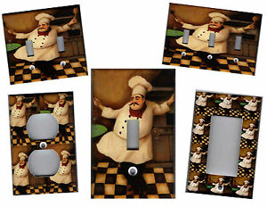 Image is loading FAT-CHEF-FAT-CHEF-KITCHEN-HOME-DECOR-LIGHT- & FAT CHEF - FAT CHEF KITCHEN HOME DECOR LIGHT SWITCH PLATES AND ...