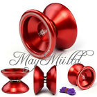 Magic YoYo T5 Red Aluminum Metal Professional Yo-Yo Toys + String For Kids S