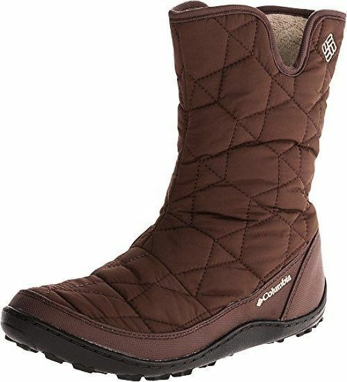 NWOB Columbia POWDER SUMMIT SLIP BOOTS Medial Zip TOBACCO BROWN -25F Damenschuhe Schuhe