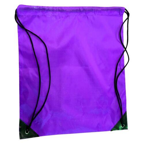 Drawstring Bag Water Resistant Backpack Gym Book Swim School Sport Shoe Dance