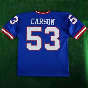 217bb5e42 1986 Harry Carson New York Giants Mitchell & Ness Blue Authentic ...