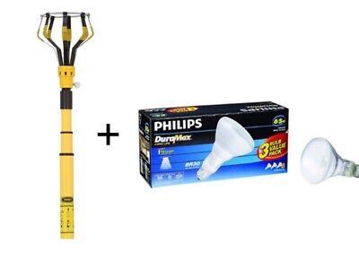 11 ft Steel Plastic Light Bulb Changer Kit w Steel Telescoping Pole  Phillips 3pk 17398236003 | eBay