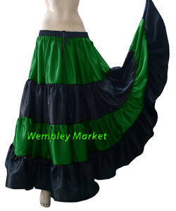 Satin Tie Top BellyDance Short Ruffle Wrap Choli Gypsy Haut Danse Blouse 30Color