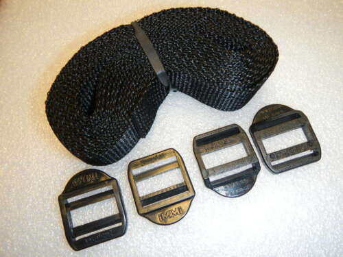 Cargo Buckle Strap Kit Boat Tie down Cooler Luggage 4 Buckles 12/'