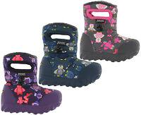 Bogs Baby Wellingtons BMOC Puff Owl Waterproof -20 Fur Lined Kids Boots UK 3-12