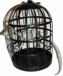 8-034-Skeletons-in-Cage-Pet-Halloween-Decor-Scary-grim-grave-yard-Sturdy-reusable