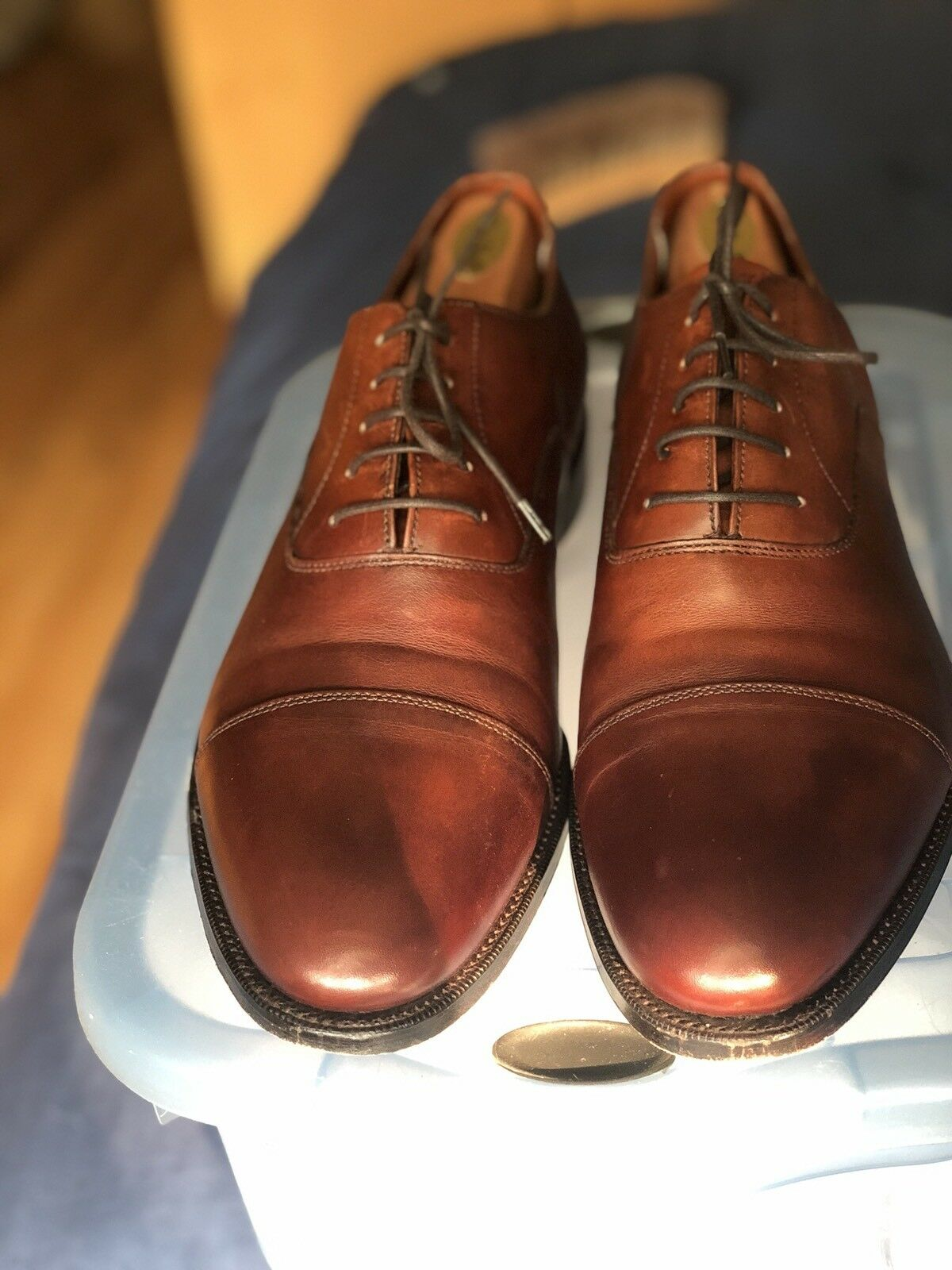 Paul Stuart Stuart's Choice Luz Marrón captoe Zapatos Grenson Masterpiece 11