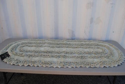 "Signature Spa 24/"" x 60/"" Textured Cotton Bath Throw Rug #M4068 Asst/'d Colors"