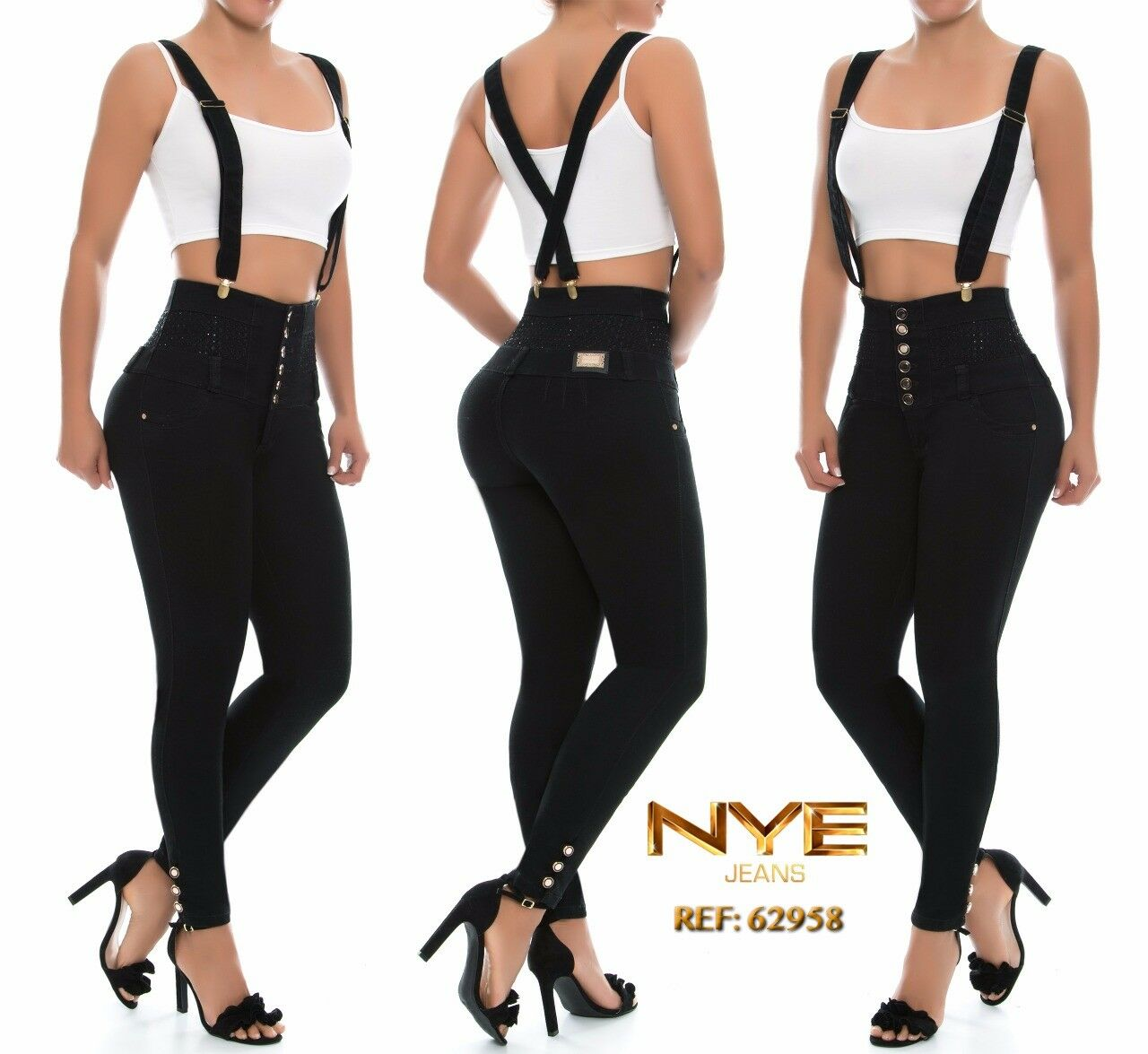 NYE JEANS COLOMBIANOS WOMEN JEANS HIGH WAISTED PUSH UP JEANS LEVANTA COLA