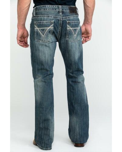 Rock and Roll Cowboy Men/'s Pistol Med Slim Bootcut Jeans M0P2602