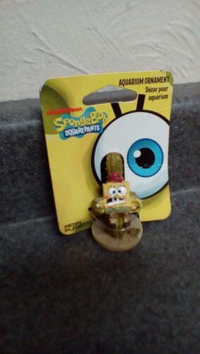 Penn Plax Mini Aquarium Ornaments or Decorations SpongeBob or Tiki Styles