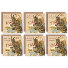 Christmas Cards x6 Krampus Anti Santa Funny Devil Merry Krampus