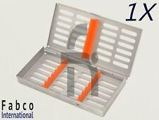 Dental Sterilization Cassette Autoclave Tray Rack Box 7 Instruments