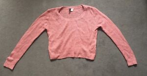 a487cfb06d8 Image is loading Ladies-Girls-H-amp-M-Pink-Knitted-Woolly-