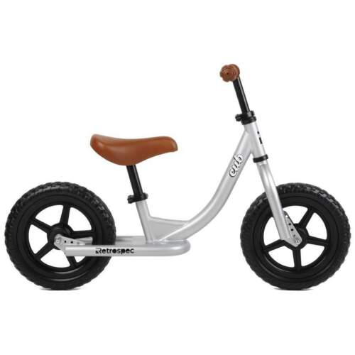 Retrospec Cub Kids Balance Bike No Pedal Bicycle SILVER 3034 FOR 2-3 Year Olds