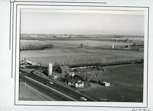 Antique Photo-Greeley Colorado Farms-Highway-Cylos-1950's-8x10-Frank Studio