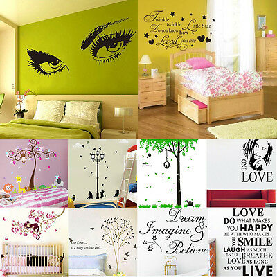 DIY Removable Wall Decal Wall Sticker Art Vinyl Quote Mural Home Room Decor