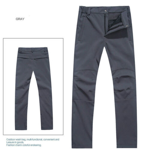 Pantaloni all/'aperto da uomo imbottito Soft Shell Pantaloni Tinta Unita grandi dimensioni